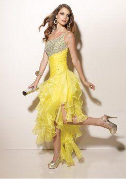 corsage et de la taille asymétrique du thé longueur d'une ligne de style bon marché robes de bal