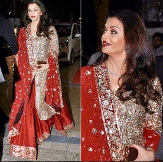 Aishwarya Rai Bachchan In A Lehenga Designed By Manish ...