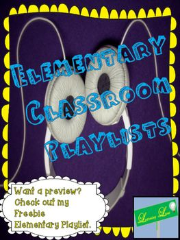 This is an elementary playlist pack with over 80 screened song titles. These playlists are grouped by emotions and strategies for use. I have read through the lyrics on every song and these are clean and appropriate for classroom use. My students LOVE these songs and I use them everyday to help them transition, study, and have fun!The title, time, and a link to a YouTube video where you can personally listen to the song also.