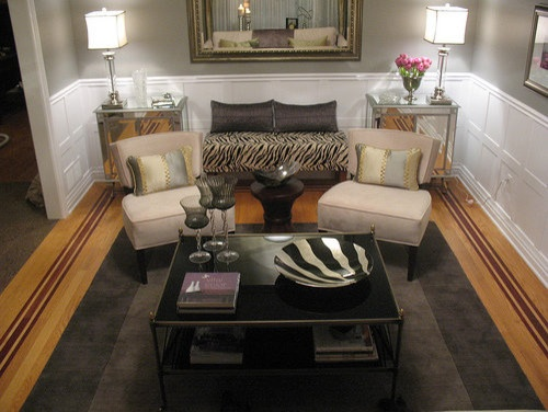 I love this room from Jax Decor design theres an old hollywood flair