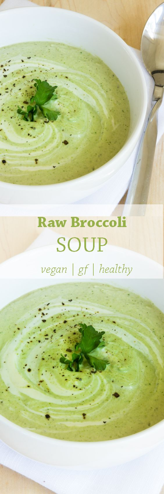 This Raw Broccoli Soup is thick, creamy, nutty and very un-raw-broccoli-like. It's not hot, but it's not cold either because the blending process warms the soup up. You'll be amazed at how mouth-watering and delectable this Raw Cream of Broccoli is.