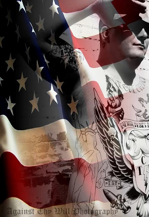 tattoos american flag