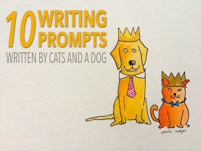 When your brain feels like frozen hamburger meat use the Ten Cat and Ten Dog Writing Prompts. The prompts will help you face the blank page and be creative.