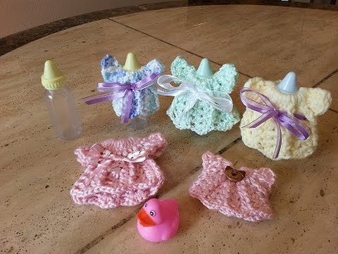 ▶ Crochet Quick and Easy Baby Shower Dress Favor DIY Tutorial - YouTube