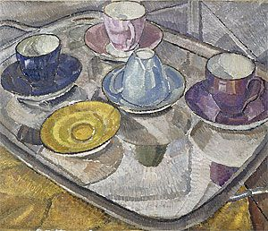 "Grace Cossington Smith, ""Teacups: the Harlequin set"" 1928"