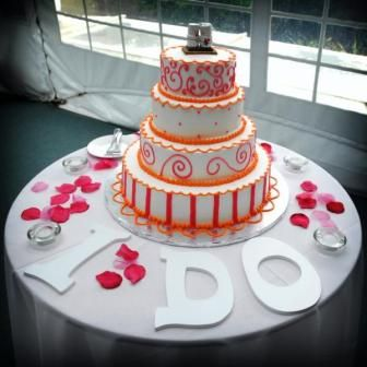 Cute And Simple Way To Decorate Wedding Cake Table