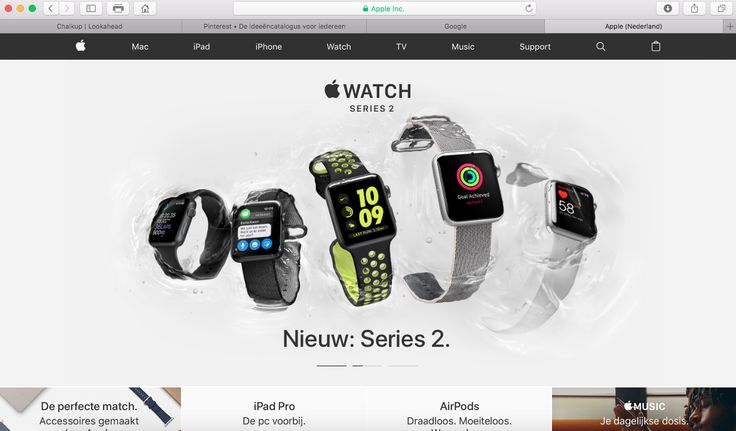 de pattern is clear entry point. Het gaat om de website van apple.