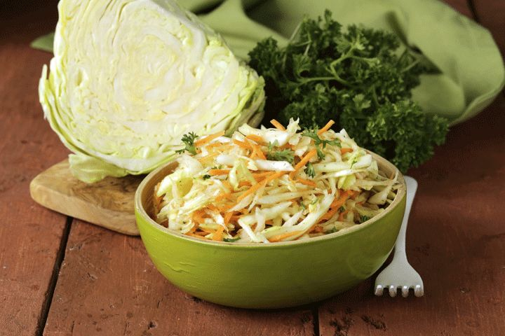 Reduced-Fat and -Calorie Coleslaw: Chef Todd Wilbur's recreates this popular barbeque side dish by replacing the mayonnaise with light mayonnaise and the whole...