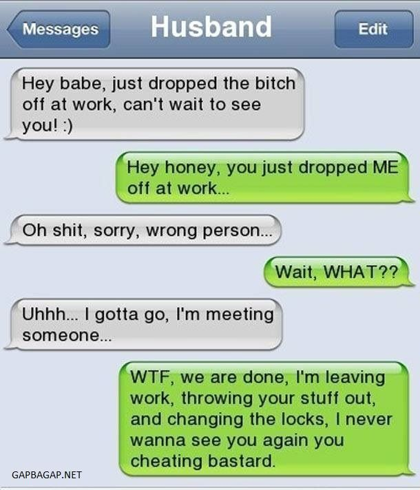 Funny Text Message By Cheating Husband