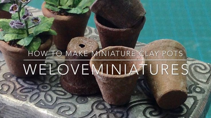 How to make miniature clay pots