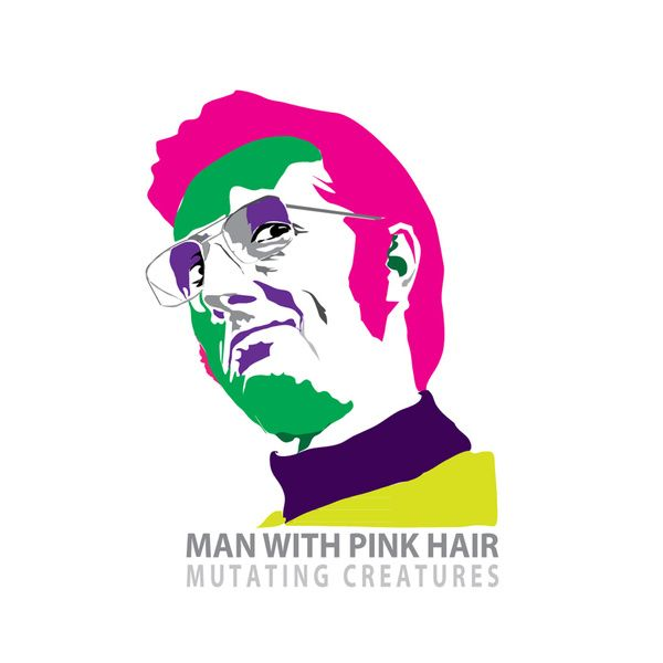 Wall Art Poster 'Man with pink hair' By Mutating Creatures