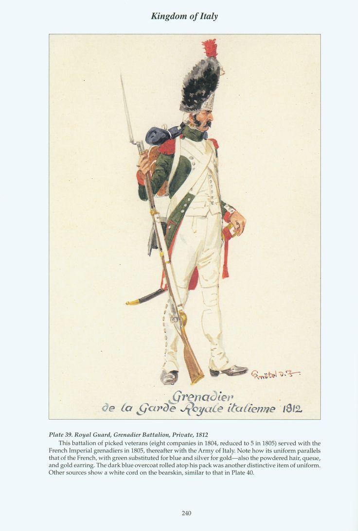 Kingdom of Italy: Plate 39: Royal Guard, Grenadier Battalion, Private, 1812