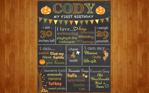This listing is for a customized chalkboard print for your childs birthday. This print is fun to customize just as youd like it! $15