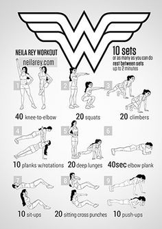 Wonder Woman Workout (Neila Ray has a LOT of awesome workouts/fitness tips. Check out the whole site!)