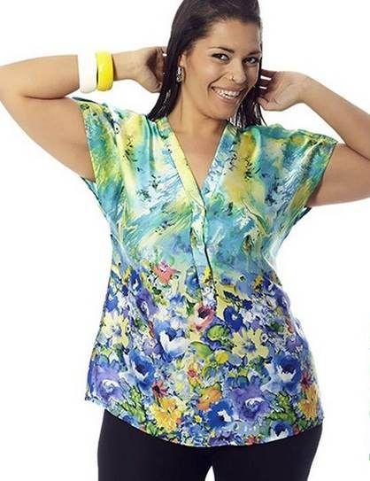 Blusas estampadas para gorditas 2013 | AquiModa.com: vestidos de boda, vestidos baratos