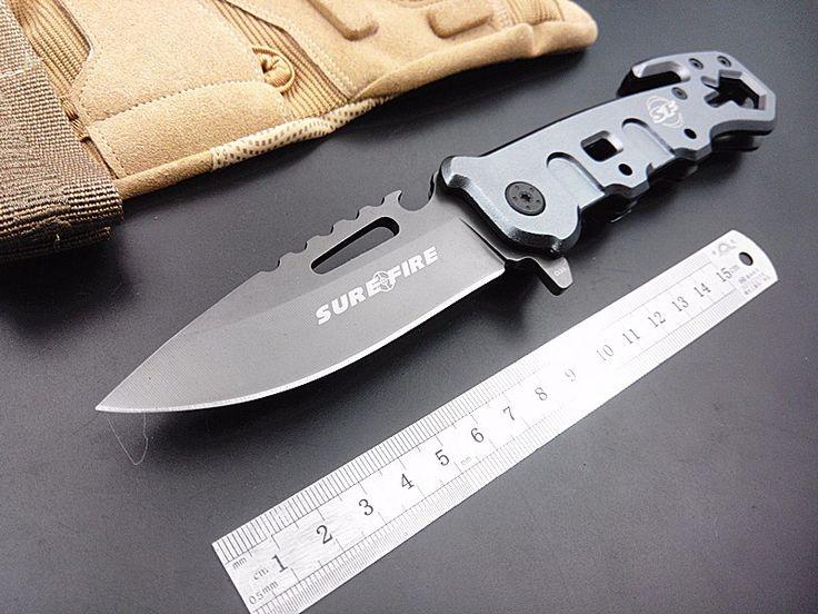 ¡ Caliente! utilidad SF rescate supervivencia cuchillo plegable táctico del cuchillo que acampa al aire libre cuchillos 440c herramienta multifuncional de bolsillo a mano