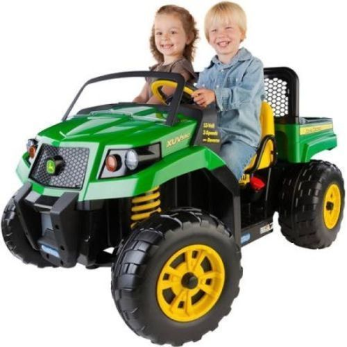 John Deere Tractor Ride On Battery Powered Power Wheels Truck Car Toddler Kids #JohnDeere