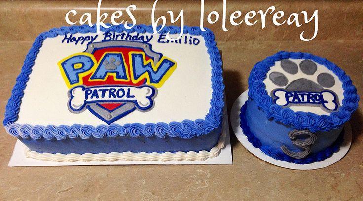 PAW PATROL Cake with Matching Smash cake | PAW PATROL Cake m… | Flickr