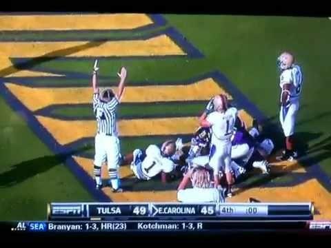 ECU vs Tulsa hail mary!!! (classic moment in ecu football)