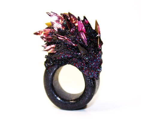 unique crystal ring