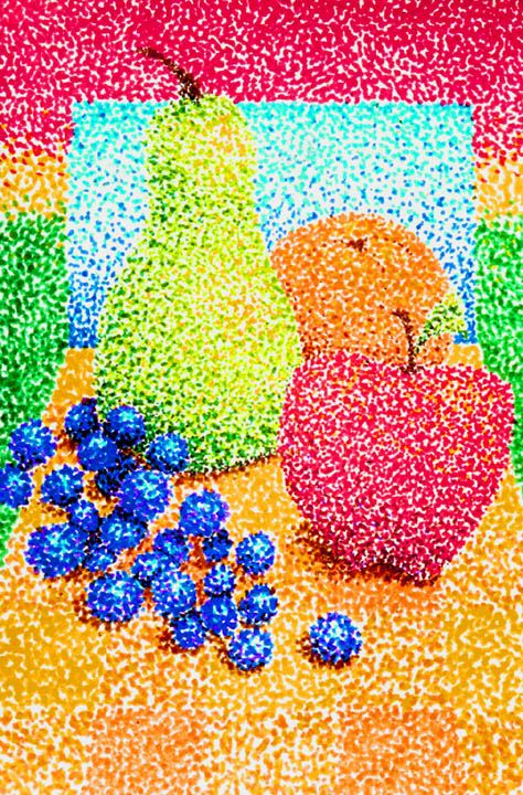 elementary pointillism project Still life