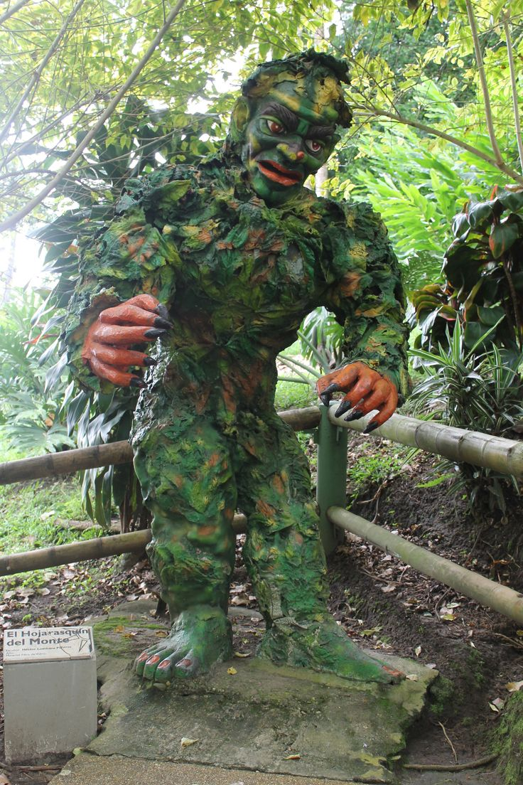 Colombian mythological creature in forest walk #Colombia