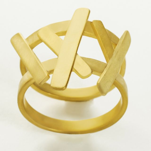 copyright Akiss Paraskevopoulos, 'Hellenic Fragments' Gold plated silver ring by Daphne Valente