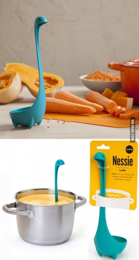 You'll never feel lonely in the kitchen again when you have a little Nessie scoop for your soup.