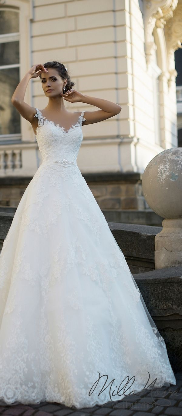 Milla Nova 2016 Bridal Wedding Dresses / http://www.deerpearlflowers.com/milla-nova-wedding-dresses/3/