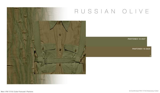 #FashionSnoops FW 17/18 color on #WeConnectFashion. Men's: Russian Olive - Soul Earth Tones Palette
