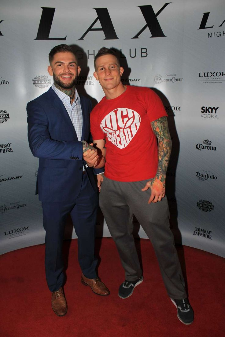 "Cody ""No Love"" Garbrandt and Erik ""New Breed"" Koch celebrate UFC Fight Night victories at LAX Nightclub, May 29"