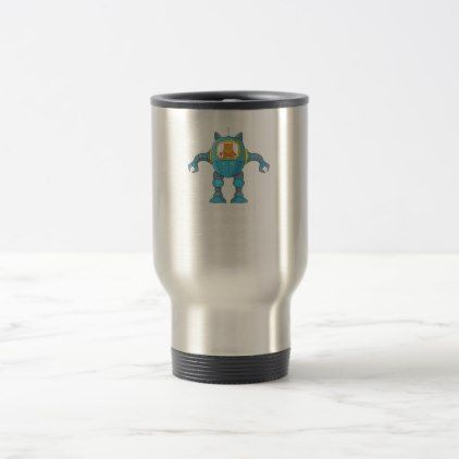 Stand Back Going To Try Science Funny Robot Cat Travel Mug - cat cats kitten kitty pet love pussy