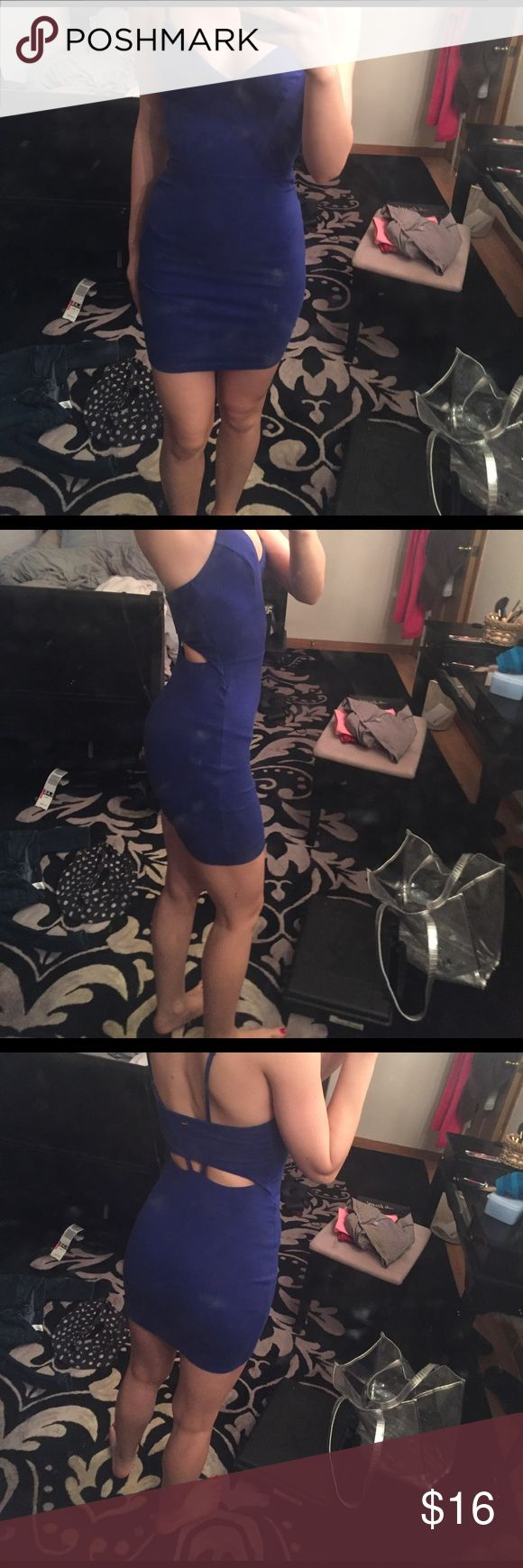 Guess royal blue bodycon dress Adjustable tank straps, open back, fitted royal blue dress from Guess extra small. Guess Dresses Mini