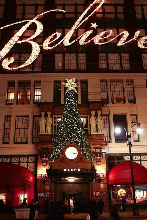 Macy's ~ 34th Street ~ New York City. This place is magical and beautiful during the Christmas season.