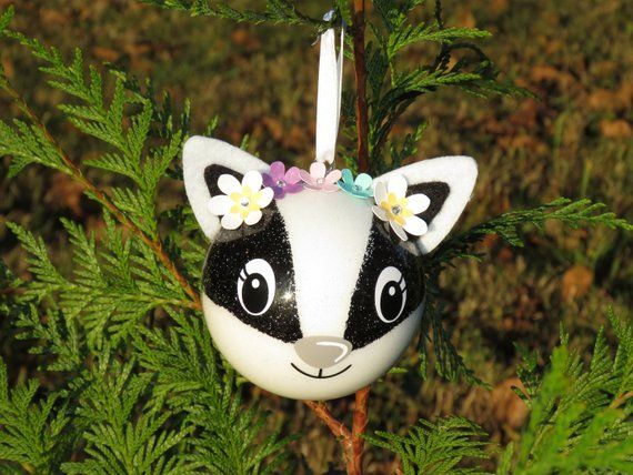 Christmas Ball Raccoon With Name Christmas Ball Christmas