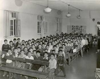 "Residential schools were made to take the ""Indian"" out of an Aboriginal child. Aboriginal children were taken away from their homes and put into these schools so that they could learn the Western way of life. Most schools were in bad condition and there was a lot of discipline. Many Aboriginal children at these schools died through disease and malnutrition; many also died from torture. Many were not able to return home and were lost forever. The last Residential school closed in 1996."