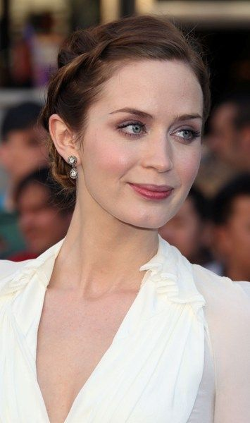 Emily Blunt rocks a braided updo