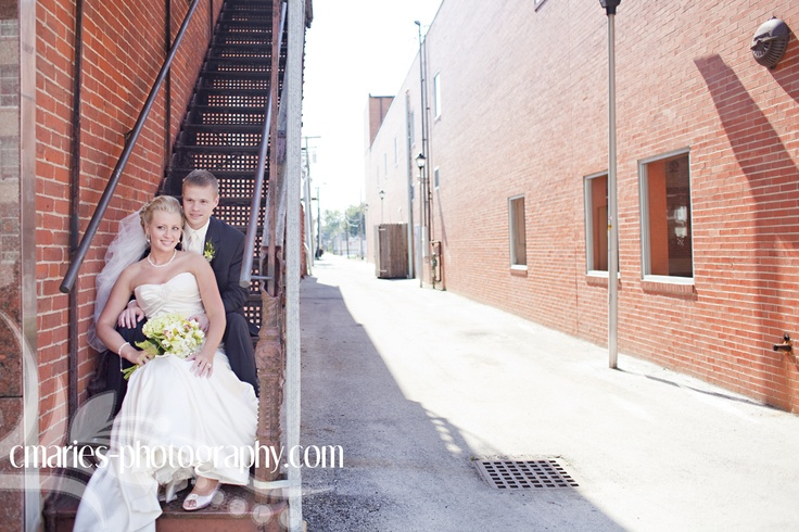 Kim & Chris Wedding - Findlay Ohio - I love cool alley and urban looking areas.