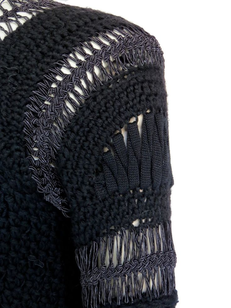 Sweater with structured knit panels - knitwear design; sleeve detail; textiles; knitting // Alice Lemoine