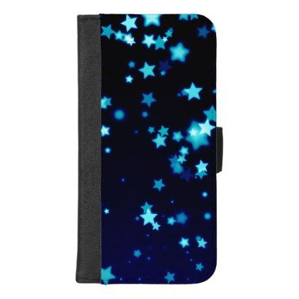 Blue Stars iPhone 8/7 Plus Wallet Case - holidays diy custom design cyo holiday family