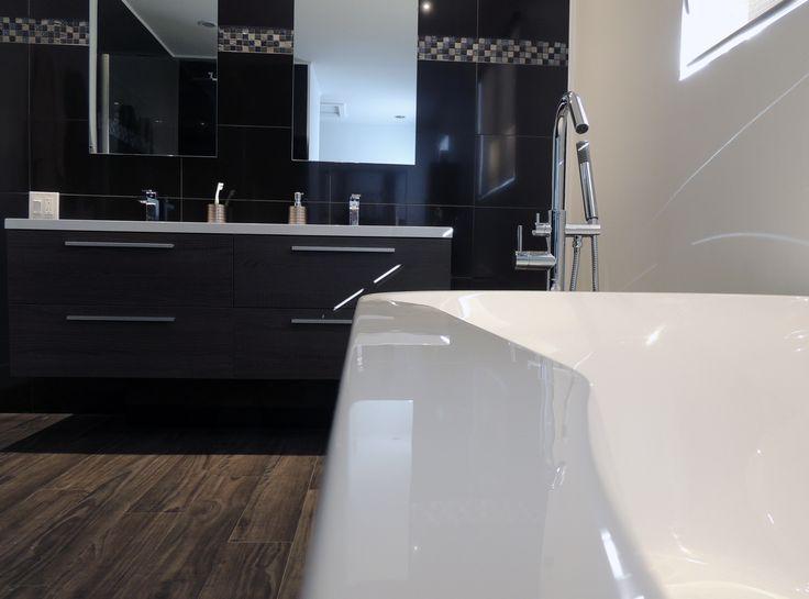Construction/rénovation salle de bains complète. Double vanité