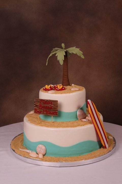 Sandy beach themed birthday cake. Birthday Cakes ...