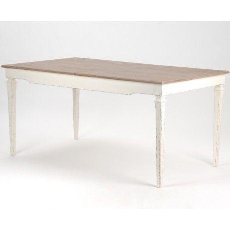 Stół z rozkładanym blatem w stylu prowansalskim.  Więcej na : www.lawendowykredens.pl