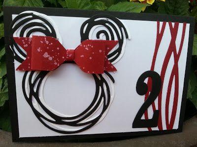 Mini Mouse zum zweiten Geburtstag; Swirly Bird, stampin up, Bastelsteffi