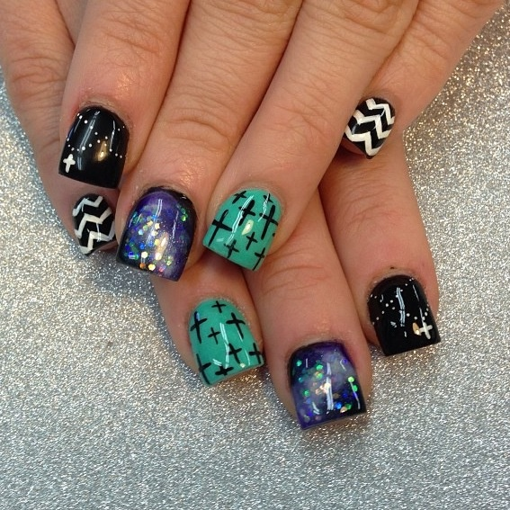 Nail Recipe: Each 1 could B your Accented Nail Art.. - Best 25+ Cross Nail Designs Ideas On Pinterest DIY Nails Black