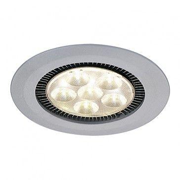 DOME LED Downlight, 6x3W, warmweiss, silbergraue Blende / LED24-LED Shop