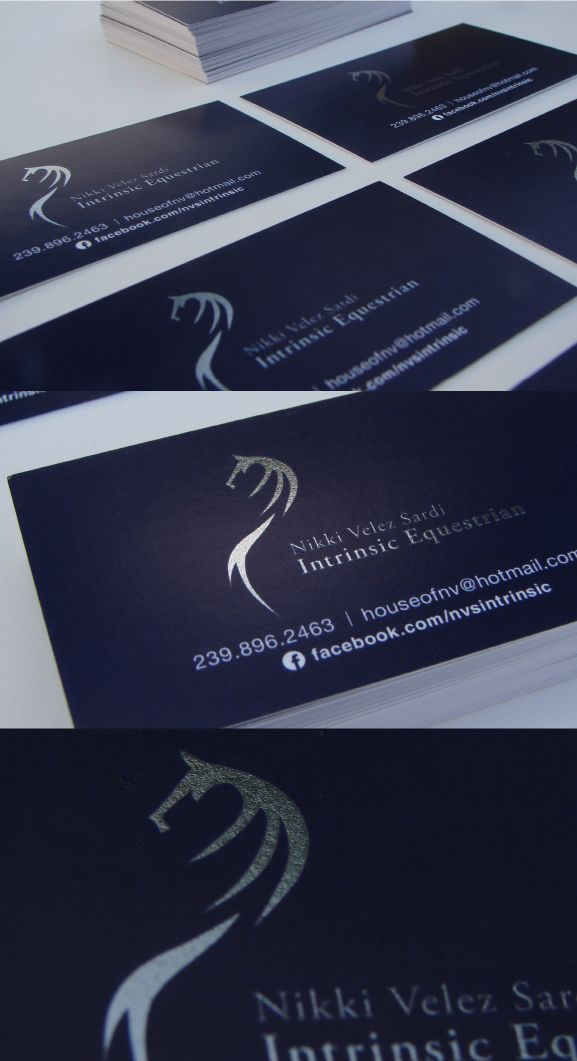 logo and business card design by me along with the psychology of loyalty and stability blue is the color