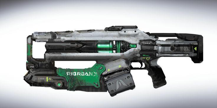 Sci-fi rifle weapon: Concept Art Link Gun - Gooba