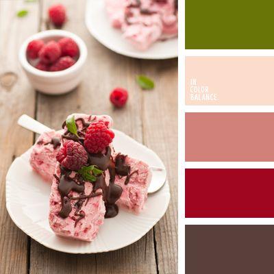 color chocolate, color frambuesa, color helado de frambuesa, color mermelada de frambuesa, color verde menta, marrón sonrosado, selección de colores para el hogar, selección de colores para interiores, tonos rosados, tonos suaves para un dormitorio.