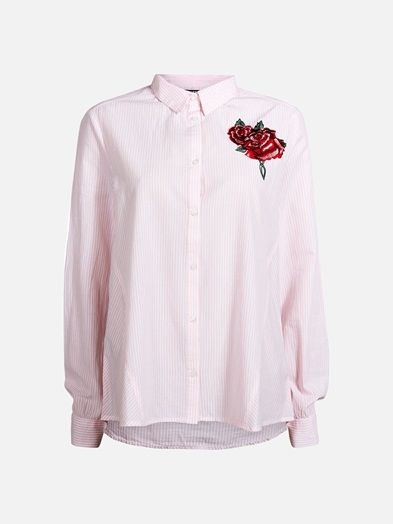 Slightly A-line cotton shirt. Style with cropped jeans or tucked inside an outstanding skirt.  Multi